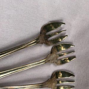Antique Sheffield Silver Plated Oyster Forks